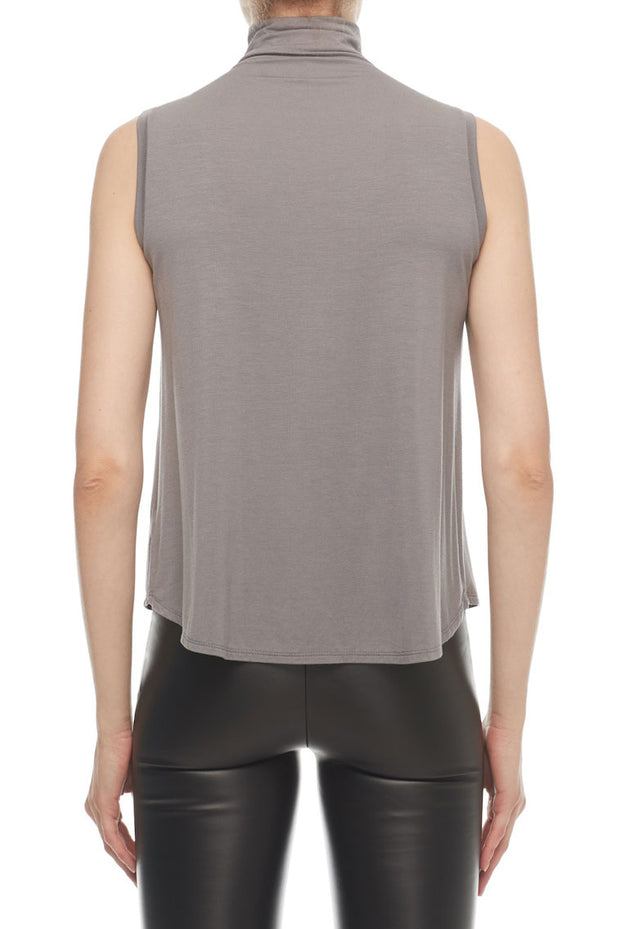 The Kali - High Collar Tank in Filigree Silver