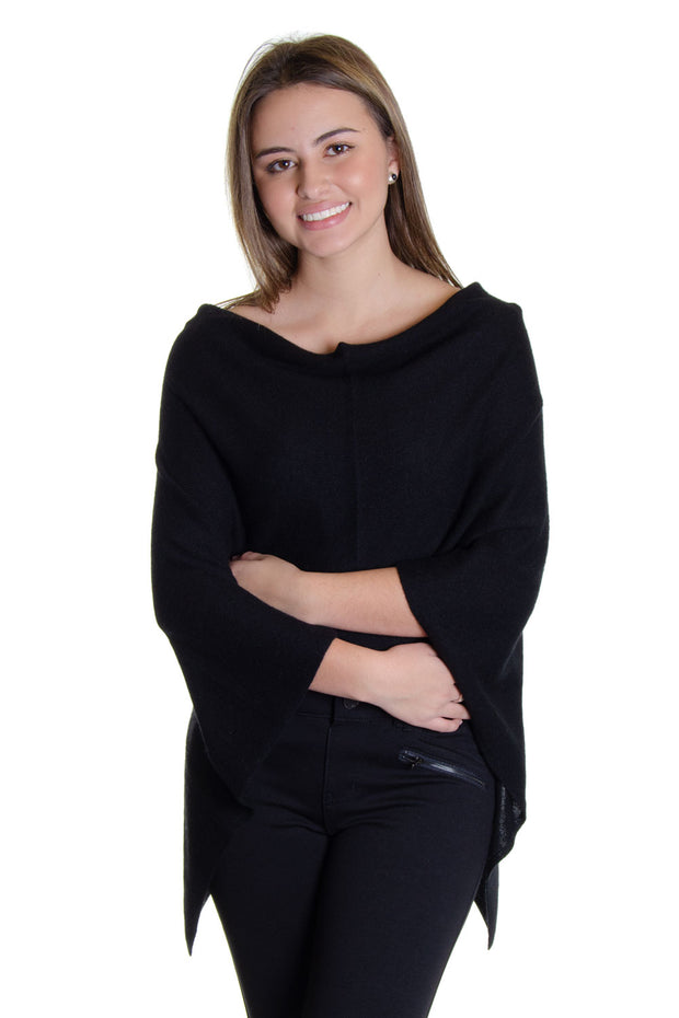 In Cashmere - Cashmere Topper in Black (LF28838)