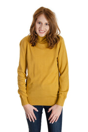 Jeanne Pierre - Cashmere Infused Turtle Neck in Maple Gold (CFA19-1357)