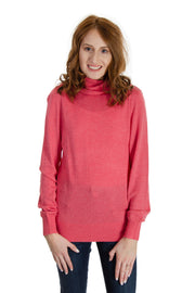 Jeanne Pierre - Cashmere Infused Turtle Neck in Sunset Pink (CFA19-1357)