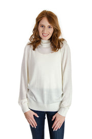 Jeanne Pierre - Cashmere Infused Turtle Neck in Cream (CFA19-1357)