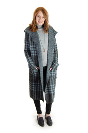 Joseph A. - Giles Plaid Sweater Jacket in Blue Combo (J2F334835F17)