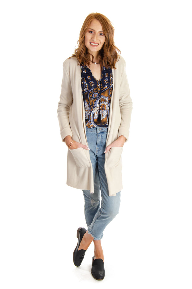 Joseph A. - Long Cardigan in Cappuccino (J2S31857)