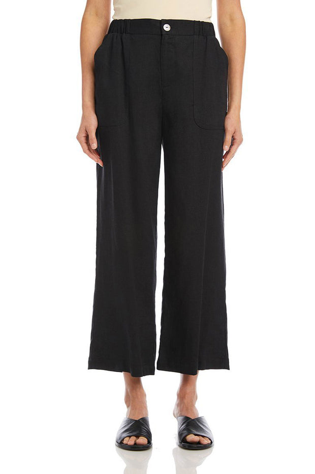 Karen Kane - Cropped Wide-Leg Pants in Black (L45221)