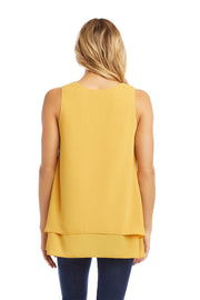 Karen Kane - Double Layer Tank in Gold (1L25479)