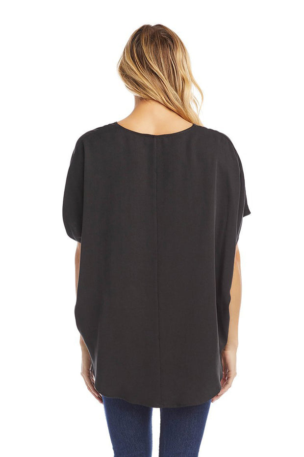 Karen Kane - Oversize Crossover Top in Black (1L18594)