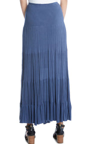 Karen Kane - Crushed Maxi Skirt in Navy (1L55144)