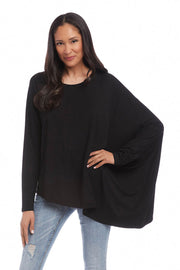 Karen Kane - Asymmetrical Cape Top in Black (3L14279)