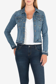 KUT - Amelia Denim Jacket in Universal Wash (KJ618ME9)