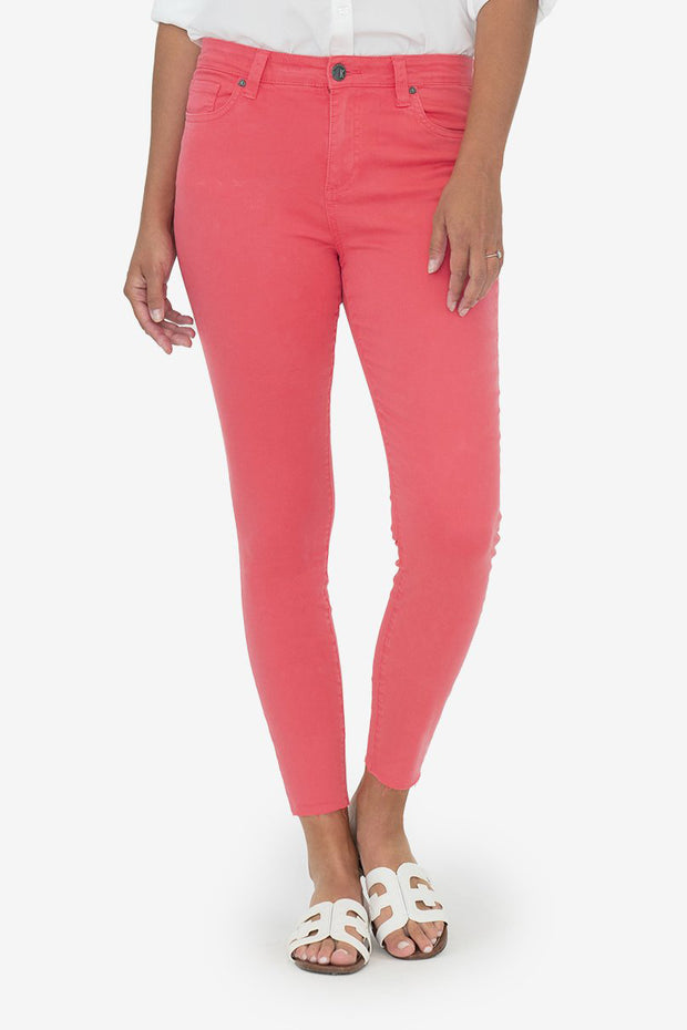 Connie Skinny Ankle Jeans in Coral