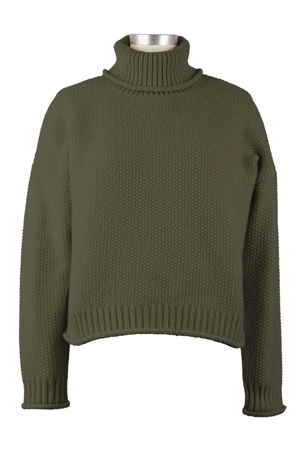 Hailie Turtleneck in Olive