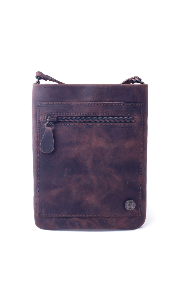 Leatherock - Skylar Leather Cell Pouch in Black Walnut (CE83)