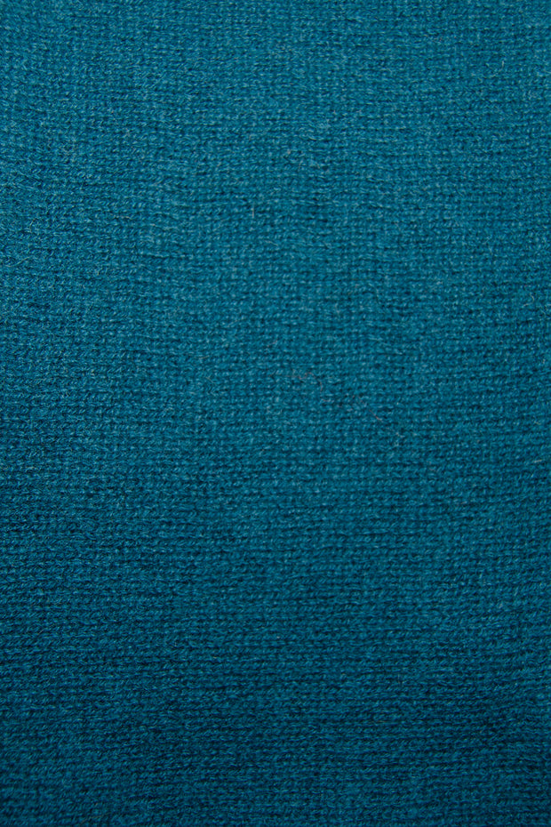 In Cashmere - Cashmere Travel Topper teal