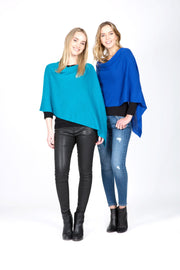 In Cashmere - Cashmere Travel Topper Blue & Turquoise