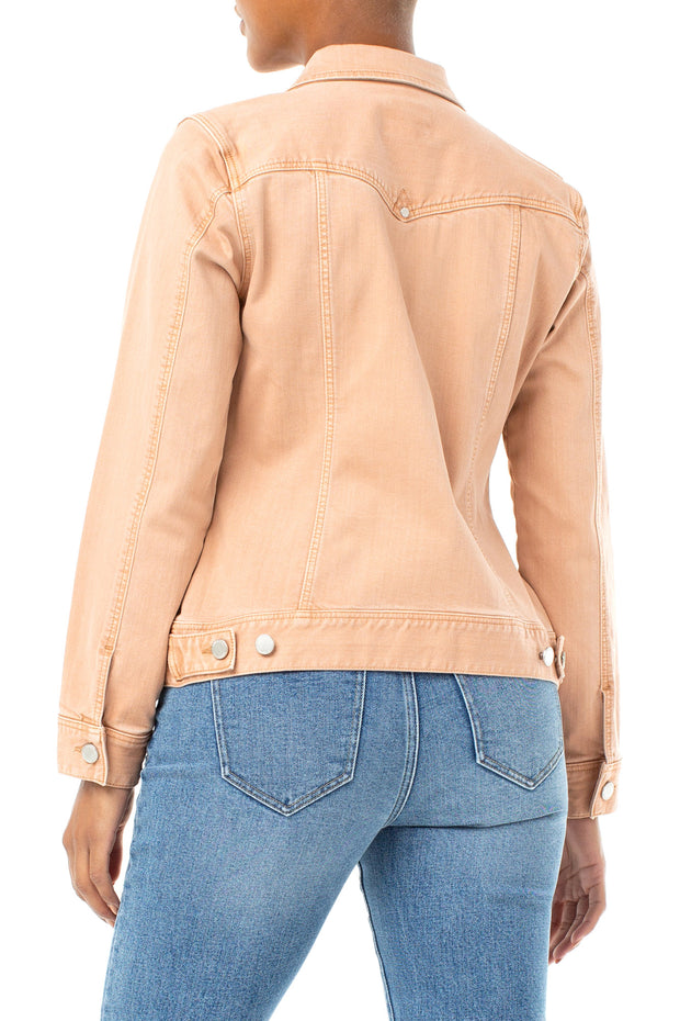 Liverpool - Denim Jacket in Dusty Coral (LM1004F81)