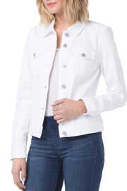 Liverpool - Denim Jacket in Bright White (LM1004WFV1)
