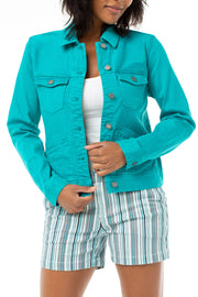 Liverpool - Jean Jacket in Turquoise (LM1490WF)