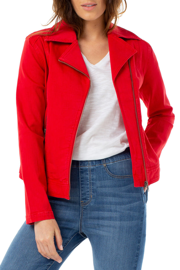 Liverpool - Clean Moto Jacket in Ginger Red (LM1671WF)
