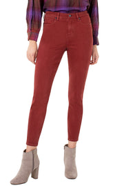 Liverpool - Abby High Rise Ankle Skinny in Cherry (LM2100WF)