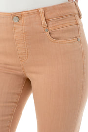 Gia Glider Crop Jeans in Dusty Coral