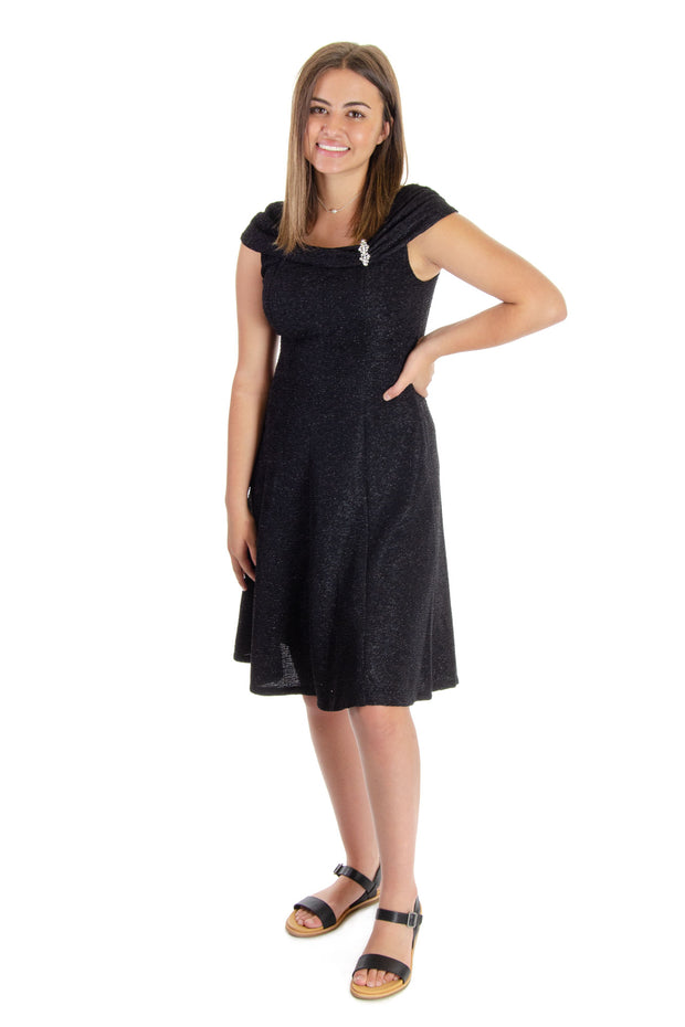 London Times - After 5 Dress in Black (T4575M)