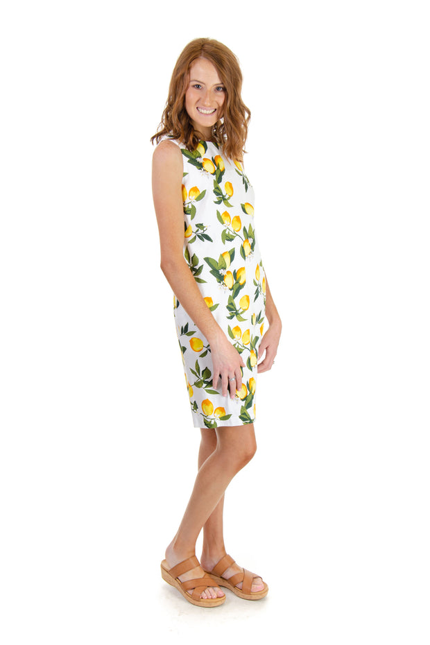 Lemon Print Shift Dress