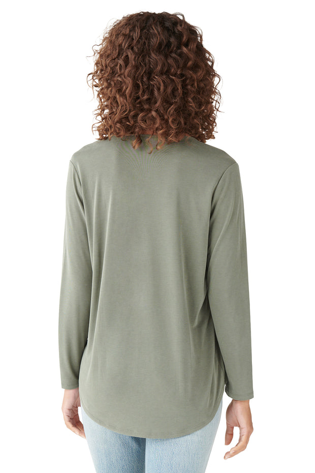 Sandwash Surplice Top in Olive