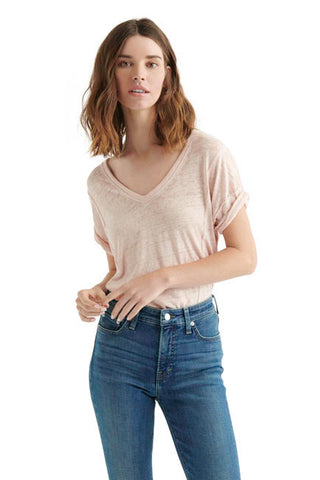 Lucky Brand - Seamed Burnout Tee in Rose Smoke (7W84382)