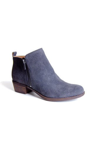 Lucky Brand - Basel Leather Bootie in Storm (Basel)