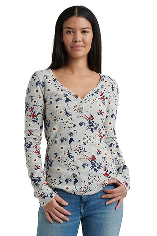 Lucky Brand - Allover Printed Thermal in Grey/multi (7W64940)