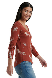 Lucky Brand - Allover Printed Thermal in Red/multi (7W65155)