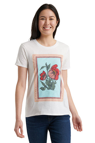 Lucky Brand - Poppies Tee in Lucky White (7W84819)