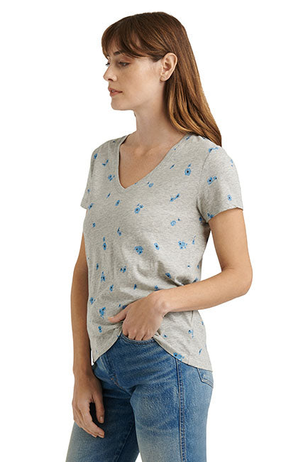 Lucky Brand - Essential Daisy Tee in Heather Grey (7W85015)
