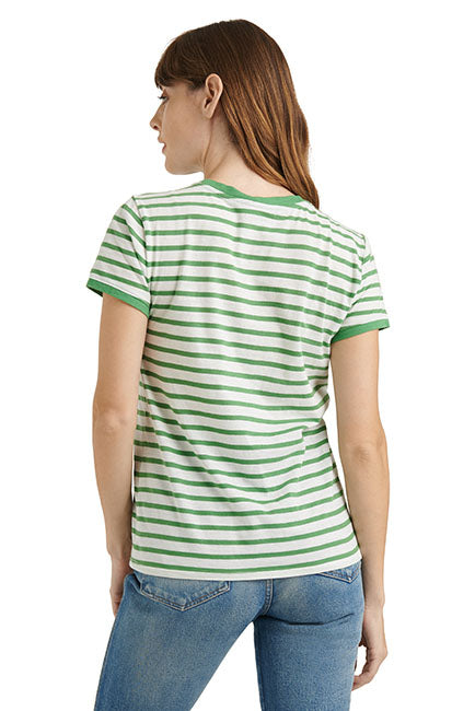 Lucky Brand - Lucky You Stripe Tee in Green/multi (7W85115)