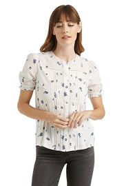 Lucky Brand - Woven Mix Print Button Down in White/multi (7W65370)