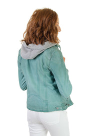 Maritius - Lamb Leather Jacket in Turquoise (Casha 2 RF)