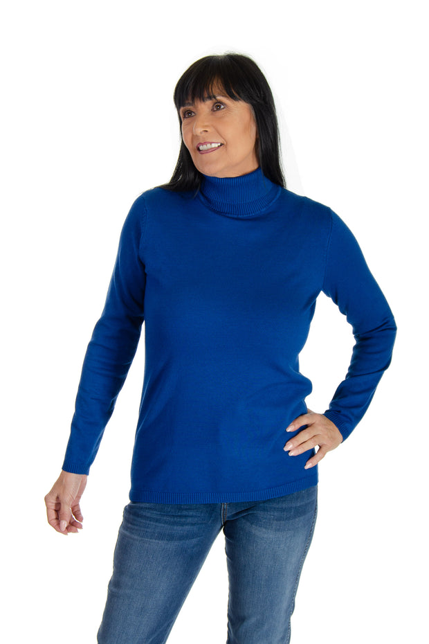 Turtleneck Sweater in Sapphire