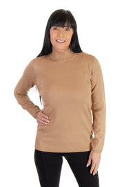 Mock Neck Sweater in Camel