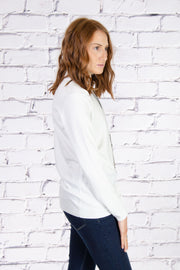 Mock Neck Sweater in Ivory