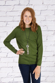 Crew Neck Sweater in Loden