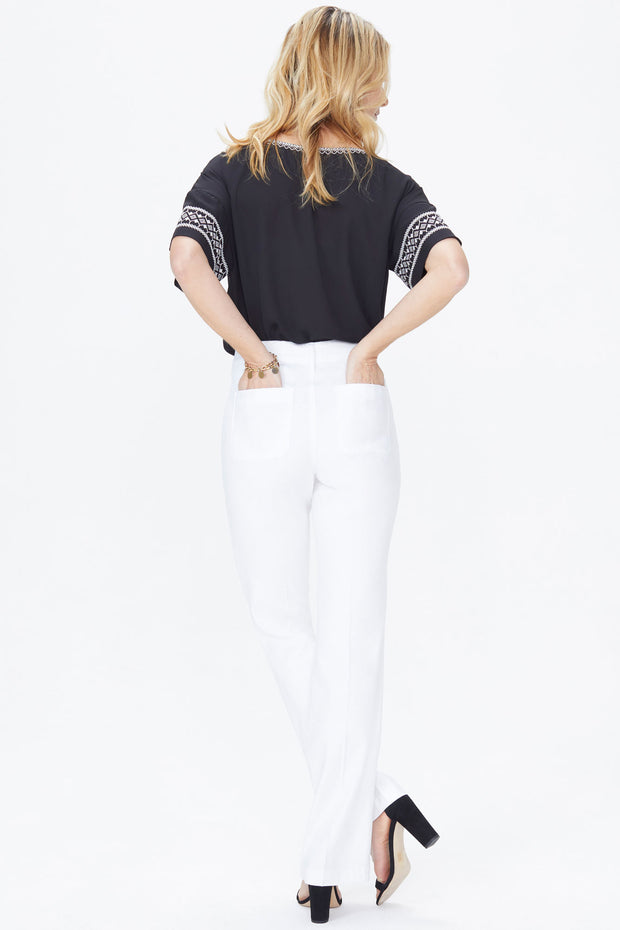NYDJ - Linen Trouser Pants in Optic White (MAKB2219)