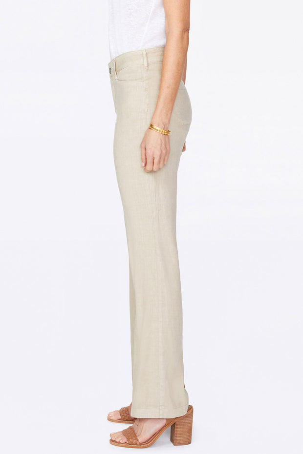 NYDJ - Linen Trouser Pants in Straw (MAKB2219)