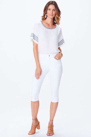 NYDJ - Skinny Capri in Optic White (MCFO2154)