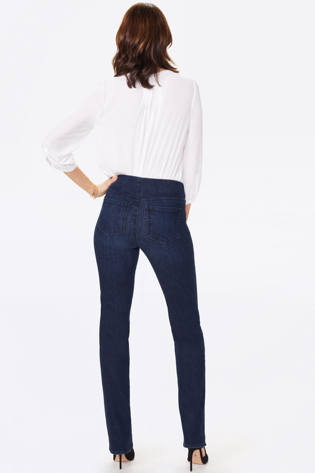 NYDJ - Marilyn Striaght Pull-on Jeans in Clean Denslowe (MDNMMS2665)