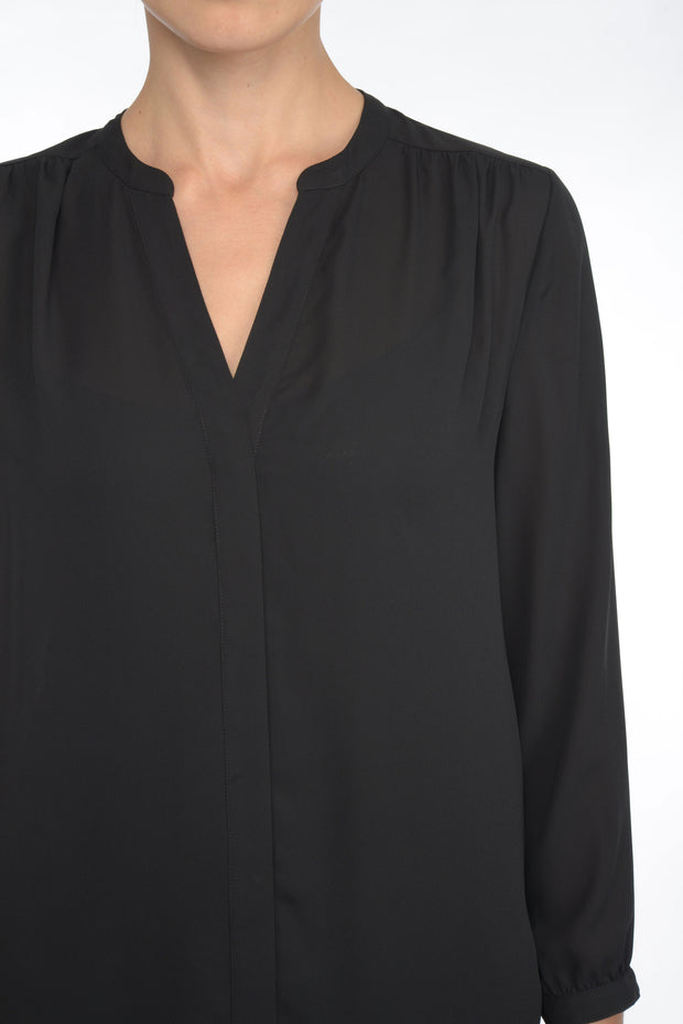 Pintuck Blouse in Black