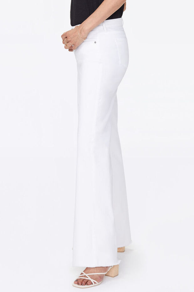 NYDJ - Teresa Wide Leg Fray Hem in White (MATKKT2853)