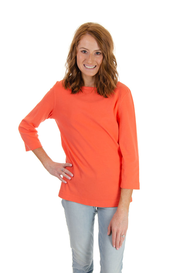 Soft Cotton Boatneck Top