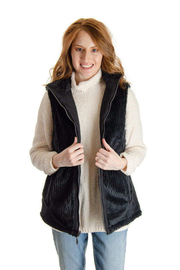 Teez-her - Reversible Vest in Black (659vt168)