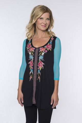 Sleevey Wonders - Basic 3/4 Sleeve Mesh in Turquoise (S30103)
