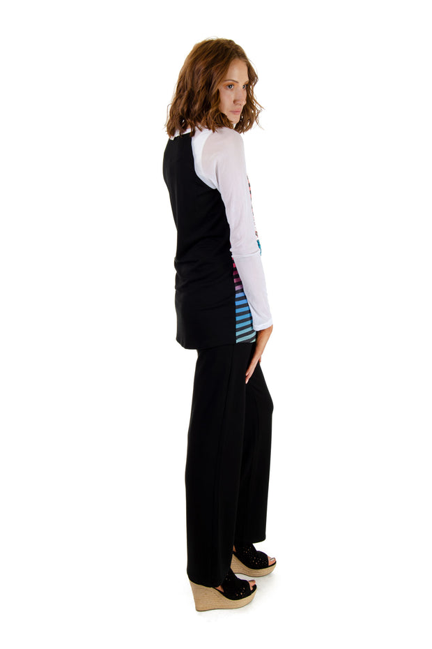 Wide-leg Pull-on Pants in Black (1001T)